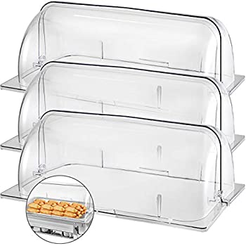 """2X Chafing Dish Cover 21/""""x13/""""x17/"""" Full Size Roll Top Bakery Pan Display Case"""