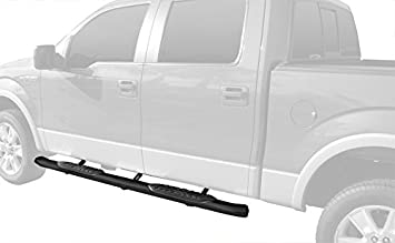 """5/"""" BLACK COATED OVAL SIDE STEP NERF BAR//RAIL FOR 09-14 FORD F150 EXT//SUPER CAB"""
