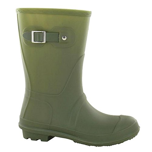 Buckle Black Ladies Strap Wellies On Womens Low Spot Calf q8wTXxxE