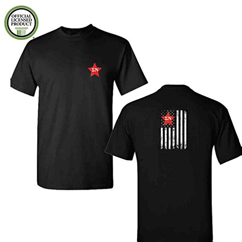 (Sigma Nu Short Sleeve Tshirt- Distressed Flag- Great Shirts For Sigma Nu Rush- Black Tshirt (Medium))
