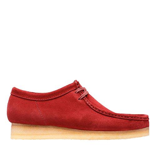 (CLARKS Originals Wallabee Men's Shoes Red Suede 26128365 (13 D(M) US))
