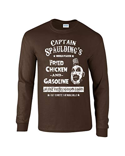 Swaffy Tees 560 Captain Spaulding Funny Adult Long Sleeve T Shirt - Zombies Long Sleeve Funny