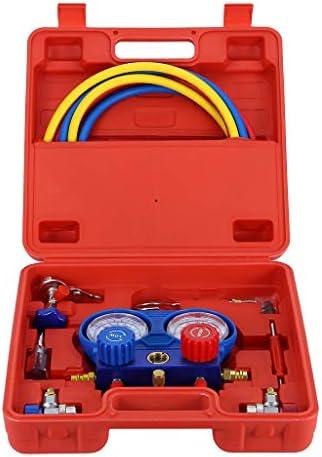 [해외]R134A R12 Car Air Conditioner Freon Add Pressure Gauge New Manifold Gauge Set For R134A R12 Refrigerant Auto Service Set For Car Use / R134A R12 Car Air Conditioner Freon Add Pressure Gauge New Manifold Gauge Set For R134A R12 Refr...