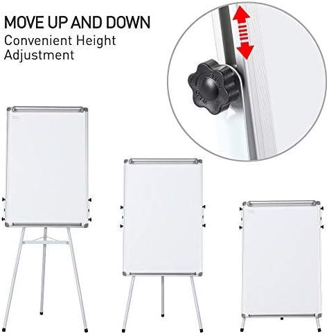 Lavagna bianca mobile 90 x 60 cm Lavagna magnetica cancellabile a secco con cavalletto e ganci
