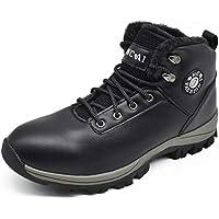Oncai Men's Leather Outdoor Walking Shoes