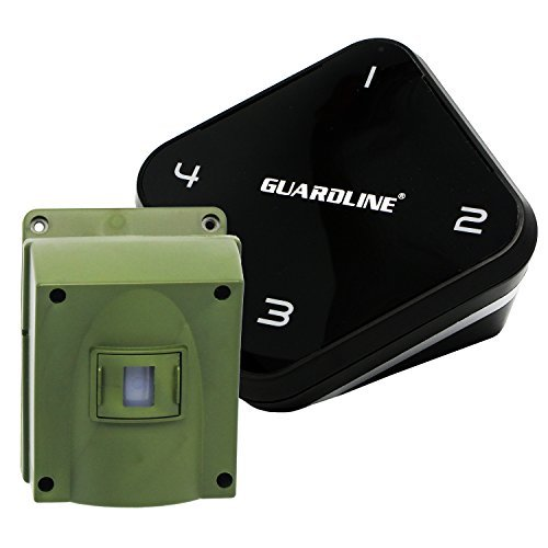 Guardline ¼ Mile Long Range Wireless Driveway Alarm Outdoor Weather Resistant Motion Sensor & Detector- Best DIY Security Alert System- Monitor & Protect Outside Property, Yard, Garage, Gate, Pool ()