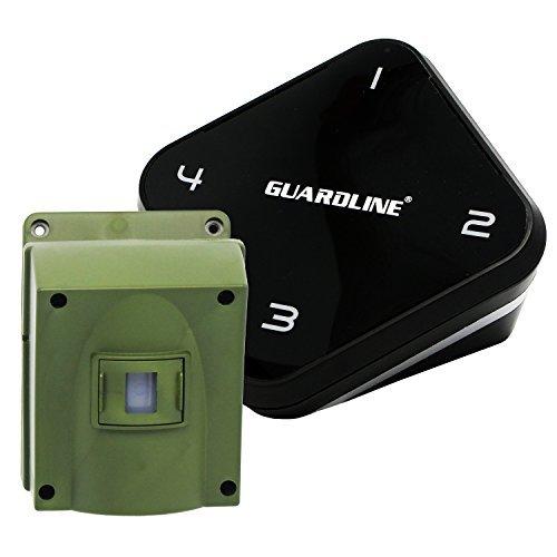 Guardline Mile Long Range Wireless Driveway Alarm Outdoor Weather Resistant Motion Sensor Detector- Best DIY Security Alert System- Monitor Protect Outside Property, Yard, Garage, Gate, Pool