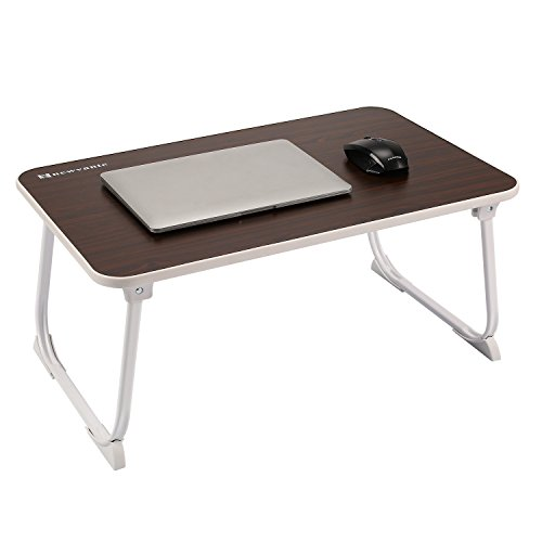 Large Bed Tray NNEWVANTE Laptop Desk Foldable Portable Standing Breakfast Reading Tray Holder for Couch Floor Students Kids Young Color(Walnut) - Office Walnut Folding Table