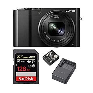 Panasonic DMC-ZS100 20.1MP Camera with DMW-ZSTRV Battery and 128GB Card Bundle
