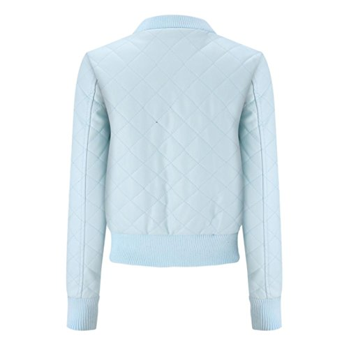 Overcoat Jacket Women Coat Slim Blouse Winter huichang Lapel Warm Blue Leather Jacket Fashion Winter Top 7gvaxZq