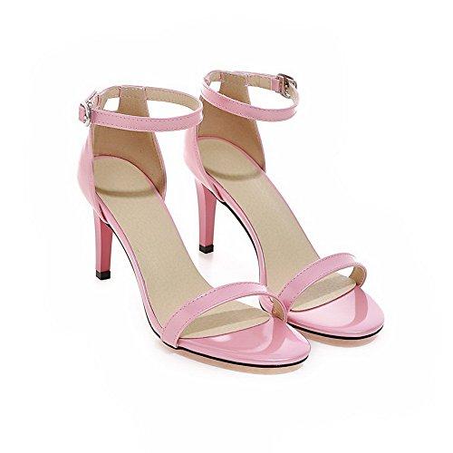 Womens Huarache Peep Pink Sandals BalaMasa Toe ASL04725 Urethane Sandals UOwaqnxd1H
