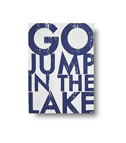 Amazon.com: Go Jump in the Lake Wood Signs with Quotes Funny ...
