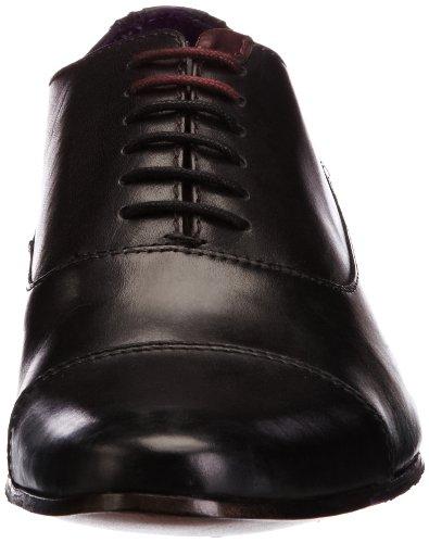 Ted Baker Churen 3, Herren Schnürhalbschuhe Schwarz (Black Leather)