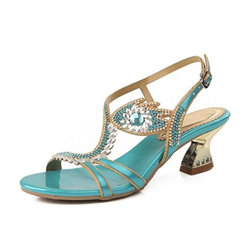 Mode Creux xie Style Strass Rome Été Diamant Diamant Sandales Chaussures Sandales Nouveau Femmes Mode 5SCq8