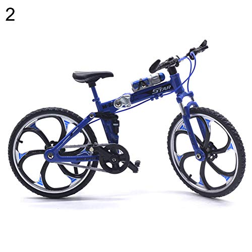 [해외]MJuan-clothing 110 Scale Simulation Alloy Mini MTB Racing Bike Model Kids Toy Decoration Gift Blue / MJuan-clothing 110 Scale Simulation Alloy Mini MTB Racing Bike Model Kids Toy Decoration Gift Blue
