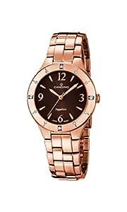 Candino Reloj Mujer de Cuarzo con Esfera Marrón Pantalla Analógica y Oro Rosa Pulsera de Acero Inoxidable C4573/2