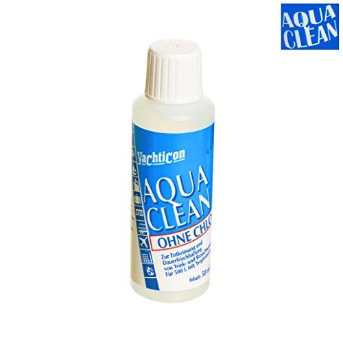 Aqua Clean von Yachticon AC 500 - ohne Chlor- 50 ml für 500 Liter Trinkwasser - tötet Bakterien (wie z.B. Cholera, Salmonellen, etc.) zur Entkeimung und Dauerfrischhaltung von Trinkwasser und Brauchwasser Trinkwasseraufbereitung AC-500
