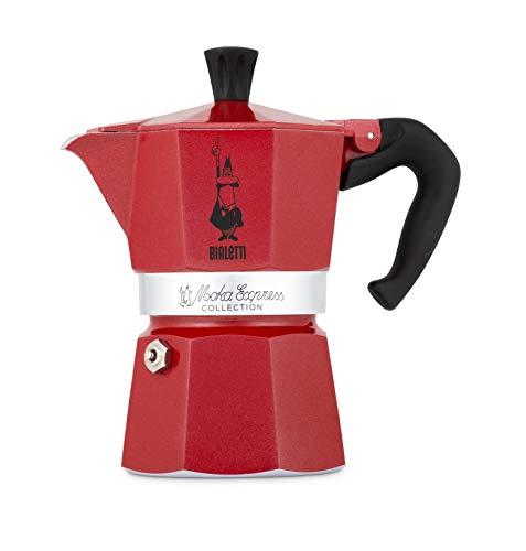 Bialetti 0006953 cafetera Manual Cafetera Italiana 0,13 L Rojo 0006953, Cafetera Italiana, 0,13 L, Rojo, Aluminio, 3…