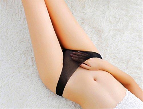 YALL-Señorita Ding ZIKU ropa interior gasa endeble cintura baja escritos de la ropa interior femenina Black