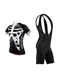 MagiDeal Fashion Cool Mens Skeleton Short Sleeve Bicycle Cycling Jersey Bib Short Set - Quick-Dry & Reflective & Breathable - All Sizes