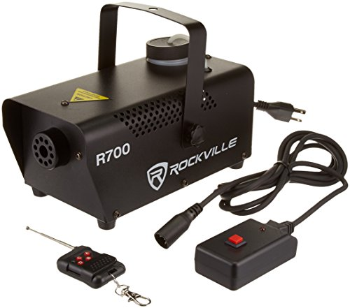 Fog Machines - Rockville R700 Fog/Smoke Machine w/ Remote Quick Heatup, Thick Fog!