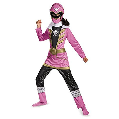 Pink Ranger Super Megaforce Girls Costumes (Disguise Saban Super MegaForce Power Rangers Pink Ranger Classic Girls Costume, Small/4-6x)
