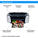 Epson Stylus C88+ Color Inkjet Printer (C11C617121) and Ink Bundle