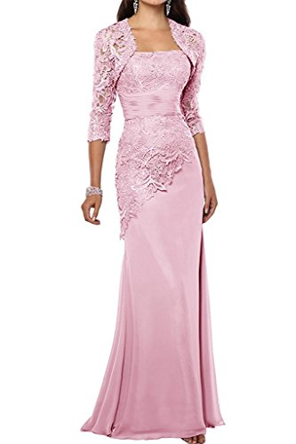 Vaniadress Women Long Mother Of The Bride Dress With Jacket Formal Gowns V263lf Pink Us4