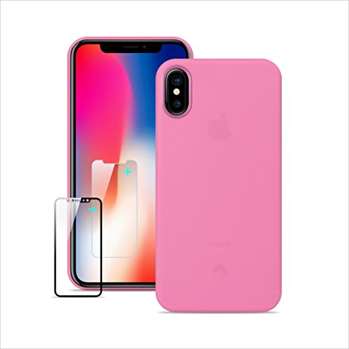 Iphone X Case Slim Anti-Scratch Case 0.3mm Ultra,5g Ultralight,good touch feeling For Iphone X (Peach Pink)