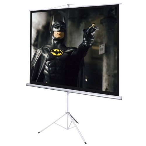 "106 Manual Screen (Projection Wide Screen 120-inch Diagonal 4:3 Manual Pull Down White Steel Case & Adjustable 67"" - 118"" Tripod Stand Portable for Home Theater Office Video Projector)"
