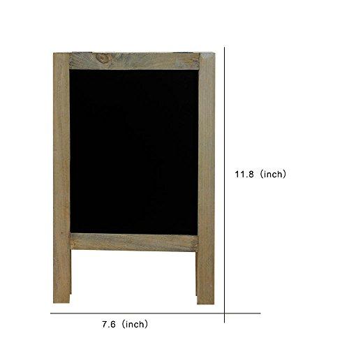 SUPERIORFE Vintage Free Standing Wooden Easel Blackboard 7.6