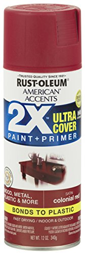 Colonial Finish - Rust-Oleum 327943-6PK American Accents Ultra Cover 2X Satin, 6 Pack, Colonial Red