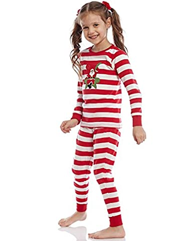 Leveret Santa 2 Piece Pajama 100% Cotton (2 Years, Red/White)