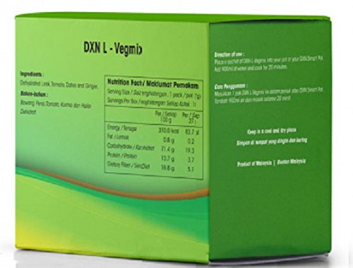MUST BUY ! 8 Box DXN L-Vegmix Dehydrated Mixed Vegetables & Dates For Soup ( Total : 80 packs X 27g ) by DXN