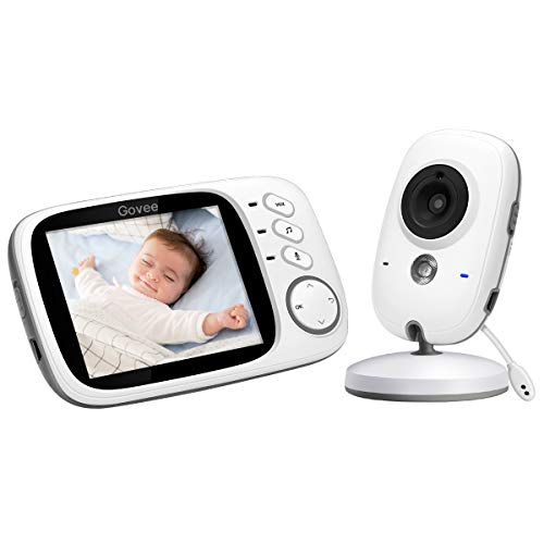 Govee 3.2 Inch Video Baby Monitor 2.4GHz Wireless Long Range with Digital Camera by Minger, Infrared Night Vision, Two Way Audio, VOX and Temperature Monitoring, 8 Lullabies and High Capacity Battery