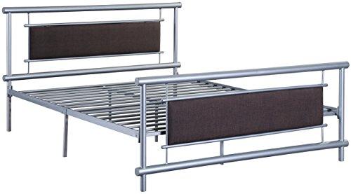 Homelegance Platform (Homelegance Gavino Tranditional Upholstered Metal Platform Bed - Full Size, Silver)