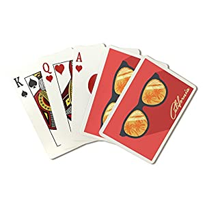 California - Palms and Sunglasses (Playing Card Deck - 52 Card Poker Size with Jokers)