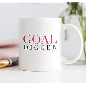 Goal Digger Coffee Mug - on desk