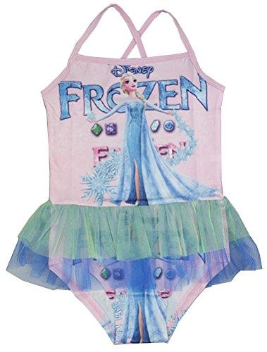 Mallimoda Girl's Disney Frozen Swimsuit One Piece Swimwear Pink2 4-5 Years (Swimsuit Disney One Piece)
