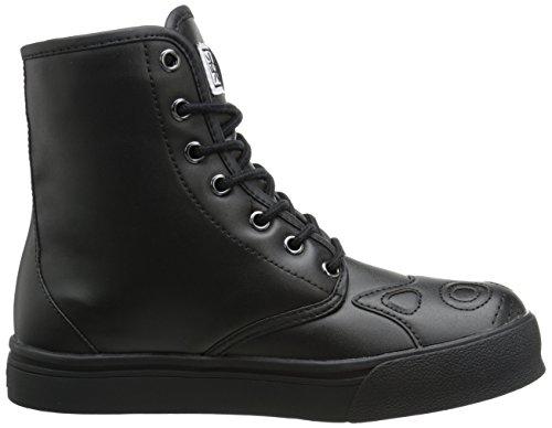 f6b968915cb TUK Shoes Womens All Black Kitty Combat Boot Sneaker Black - igfh ...