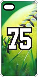 Baseball Sports Fan Player Number 75 Clear Rubber Decorative iphone 4s Case