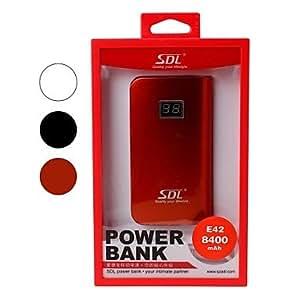 Batería Externa 8400Mah Sdl Banco Portable Con Manzana 8 Pin Cable Para Dispositivos Móviles Rojo