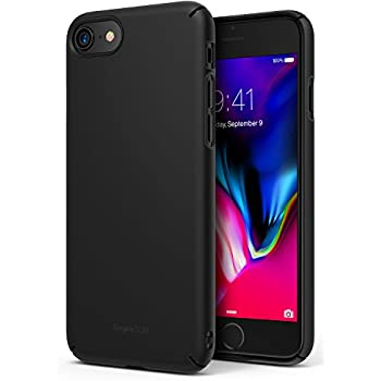 Ringke [SLIM] Apple iPhone 7 / iPhone 8 Case Snug-Fit Slender [Tailored Cutouts] Extreme Lightweight & Thin Superior Coating PC Hard Skin Cover - SF Black