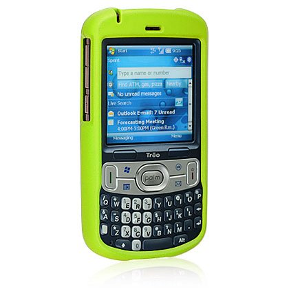 DB Premium Palm Treo 800w Rubber Feel Snap-on Hard Crystal Case - Green