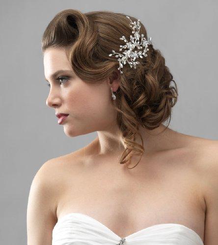 USABride Wedding Side Comb with Rhinestone & Crystal, Bridal Headpiece 175