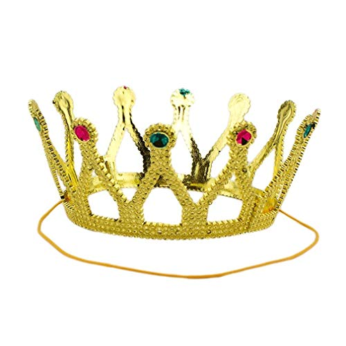 80s Prom Crown Unisex Crown for Kings & Queens Crown Fit Kids or Adults to Look Like Royal Gold -