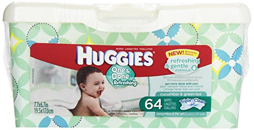 Huggies One & Done Baby Wipes, 64 ct
