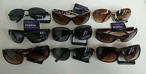 Wholesale Lot 50 Pairs- Foster Grant Designer Inspired Sunglasses 100% UVA & UVB New