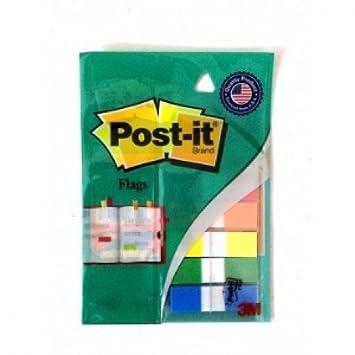 3m post it flags 1 25cm x 4 37cm size 60 flages multi colours