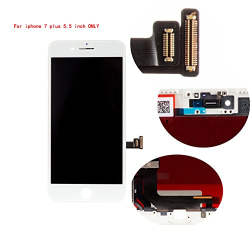 - Front Glass LCD Screen Replacement Digitizer Assembly Frame Full Set Display Touchscreen for iPhone 7 Plus 5.5